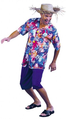 Hawaiian Shirt Fancy Dress - Blue (Best Dressed)